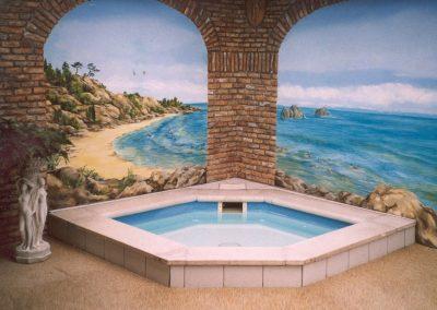marmural muurschilderingen sauna en zwembad