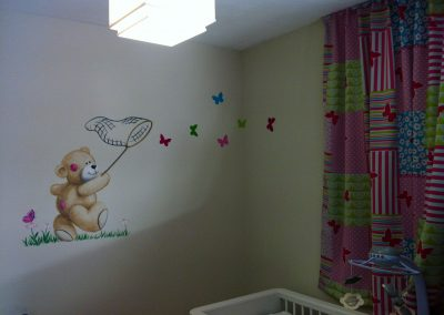 muurschildering babykamer Me2You Tatty Teddy