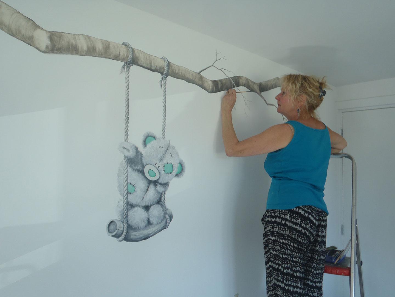 Gordijn Babykamer Babykamers : Muurschilderingen die de babykamer net zo bijzonder maken als je baby