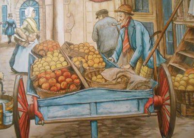muurschildering diversen Anton Pieck