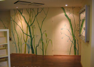 muurschildering diversen bomen
