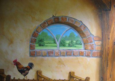 muurschildering trompe-l'oeil