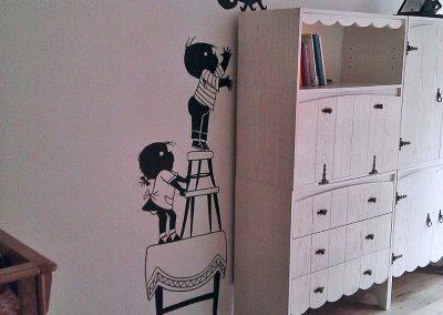 muurschildering kinderkamer jip en janneke