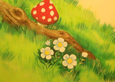 muurschildering kinderkamer sprookjesboom