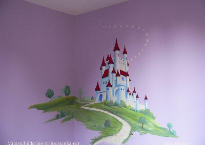muurschildering meisjeskamer kasteel