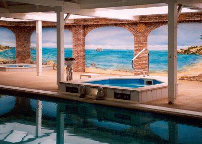 muurschildering sauna zwembad tropische zee-sauna-zwembad-tropische-zee-1