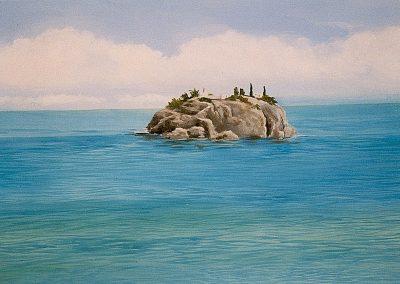 muurschildering sauna zwembad tropische zee