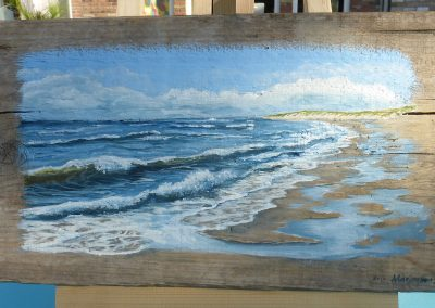 schilderij zeegezicht Nederland