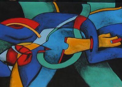 muurschildering abstract