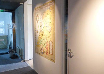 Muurschildering diversen magneetbord Nederland