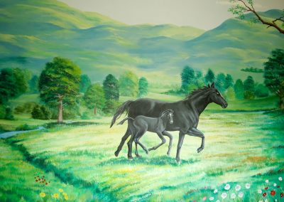 muurschildering-meisjeskamer-paarden-023